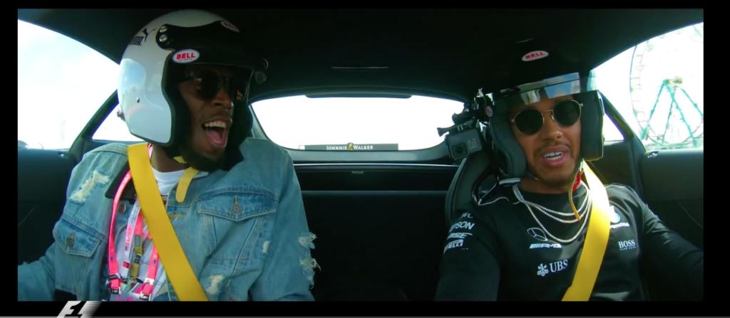Usain Bolt und Lewis Hamilton haben FUN
