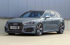 H&R Fahrwerke Tieferlegung Audi RS 4 Sportkombi Tuning