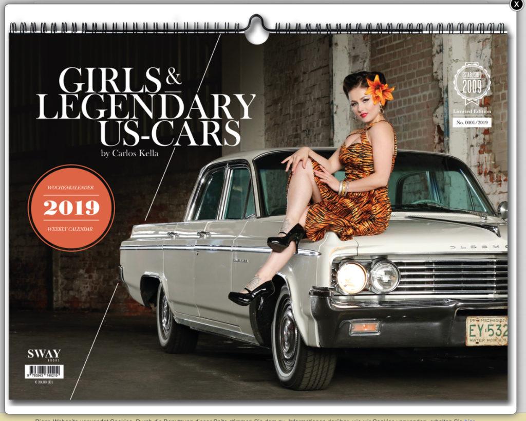 2019er Girls & legendary US Cars-Kalender
