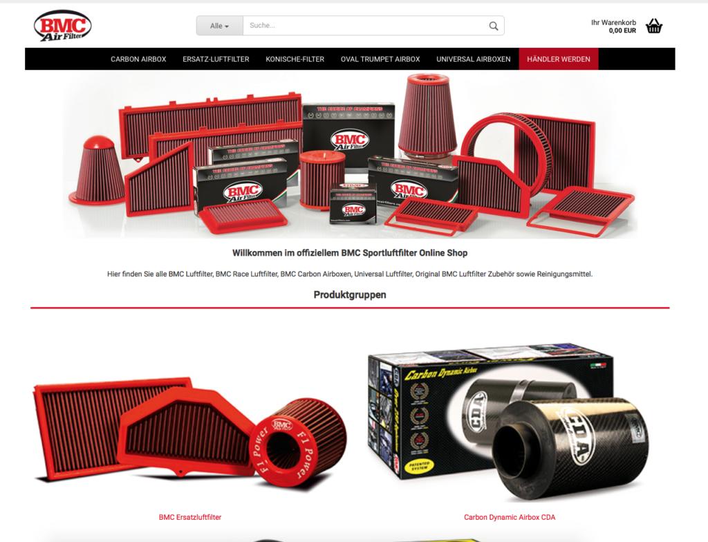 Jetzt neu: BMC Luftfilter-Onlineshop!