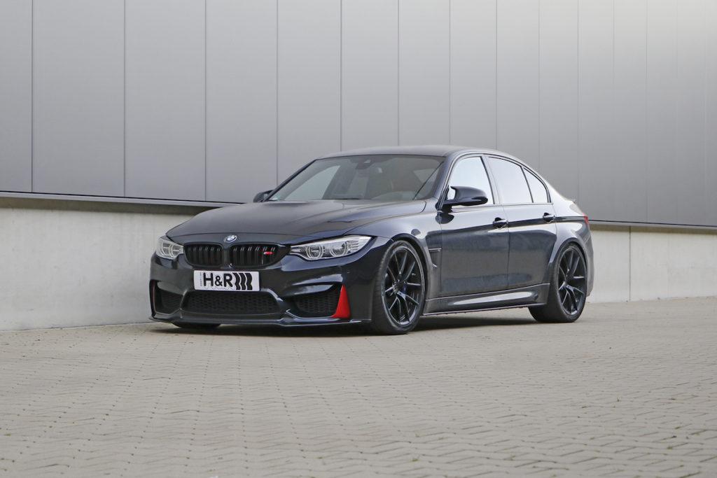 BMW M3 F80 Limousine Tuning Tieferregung H&R Gewindefedern HVF-System