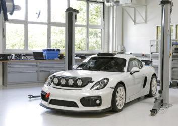 Rallye Deutschland Konzeptstudie Prototyp Porsche Cayman GT4 Clubsport Romain Dumas
