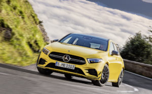 Neuheit Pariser Autosalon Mondial de l'Automobile Mercedes-AMG A 35 Hot Hatch Kompaktsportler Topmodell Turbo-Vierzylinder