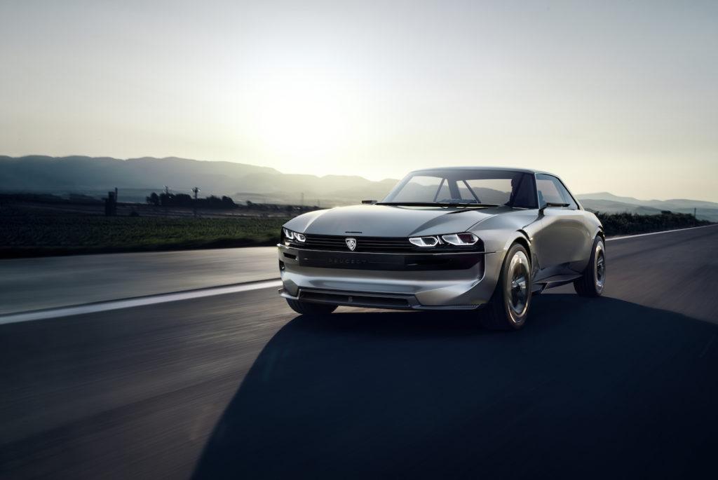 Pariser Autosalon Mondial de l'Automobile Studie Peugeot e-Legend Concept 504 Coupé Studie Elektroantrieb autonomes Fahren