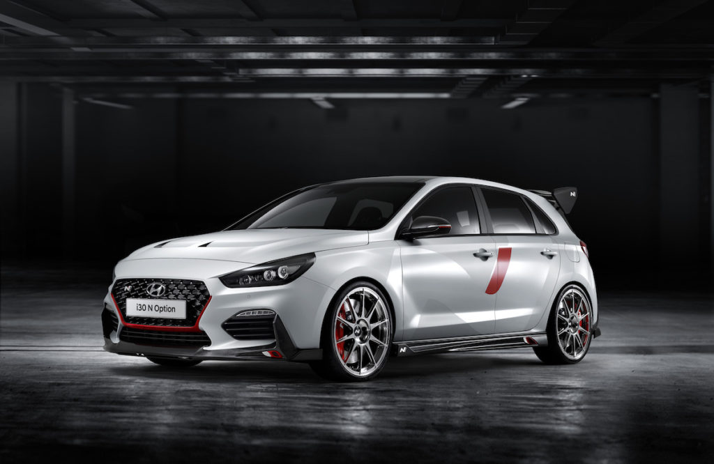 Mondial de l'Automobile Pariser Autosalon Hyundai i30 N Option Konzeptfahrzeug Kompaktsportler Hot Hatch
