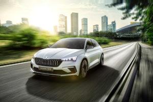 Mondial de l'Automobile Pariser Motor Show Studie Concept Car Plug-in-Hybrid Skoda Vision RS