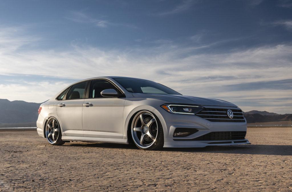 SEMA Show 2018 Las Vegas VW Jetta Showcars Jamie Orr H&R Air Design USA Tuning Felgen Fahrwerk