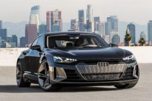 LA Auto Show 2018 Messe Neuheit Premiere Studie Audi e-tron GT concept Viertürer Gran Turismo Coupé