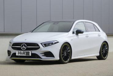 H&R Sportfedern Fahrwerk Tieferlegung Spurverbreiterungen Mercedes A-Klasse A 250 Kompaktklasse AMG Line Tuning