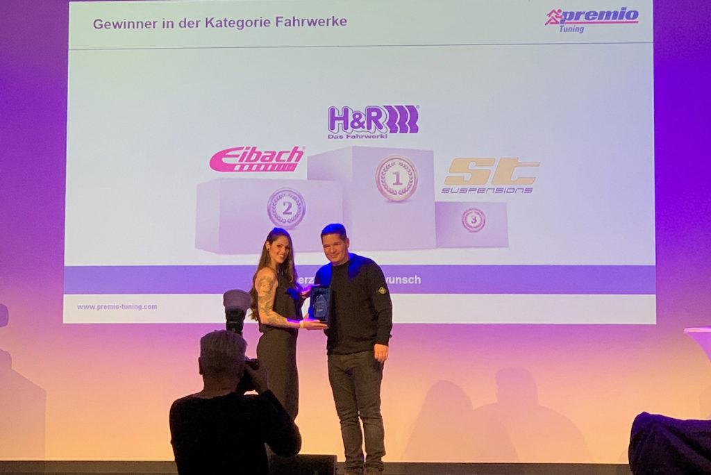 Premio Best Brand Award 2018 Fahrwerke Gewinner Auszeichnung H&R Tuning