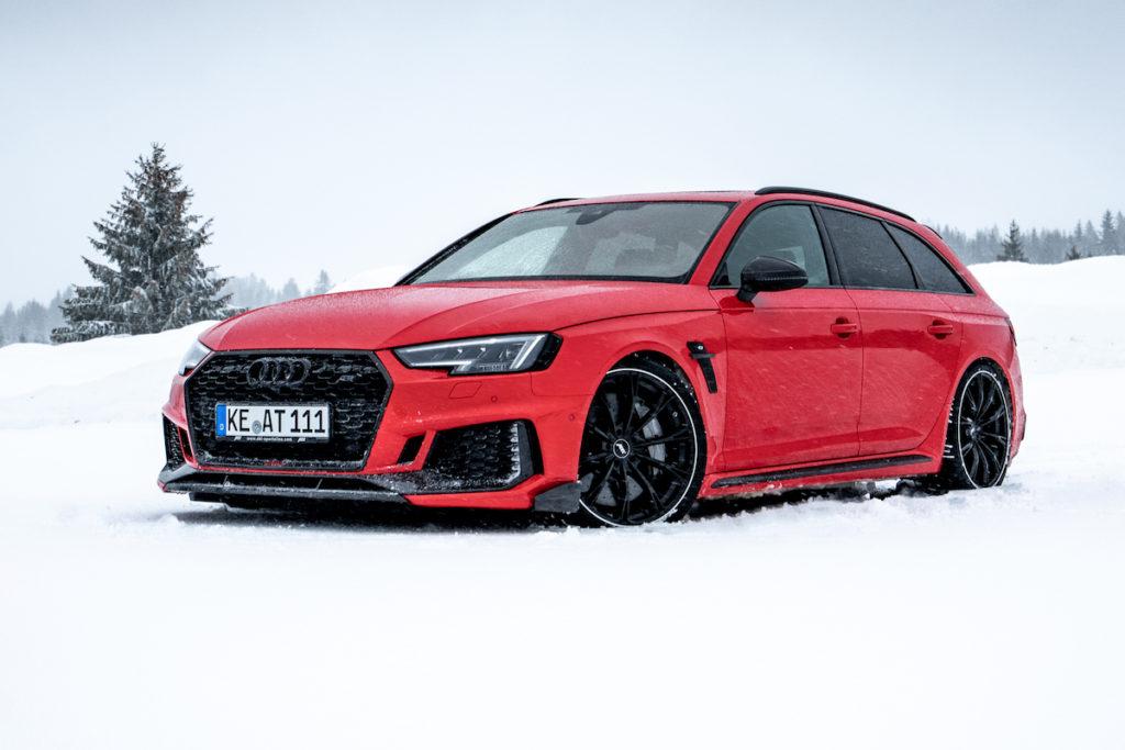 Neuheit Abt RS4+ Audi RS 4 Avant Tuning Bodykit Leistungssteigerung Felgen Abt Sport GR Fahrwerk Schnee