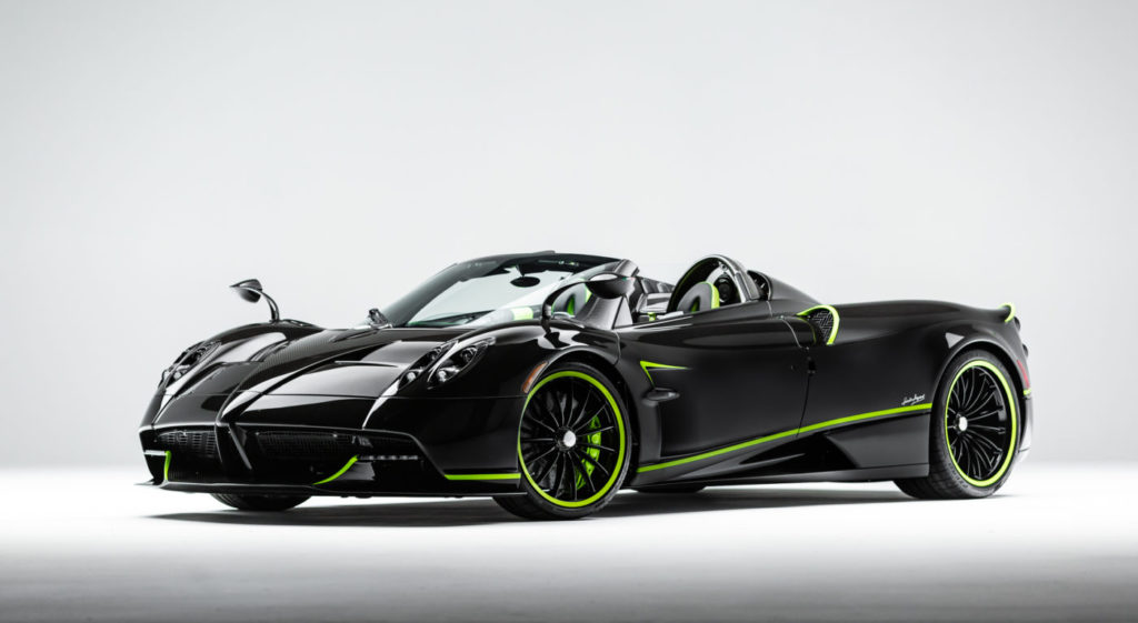 Pagani Huayra Roadster in Acid Green!