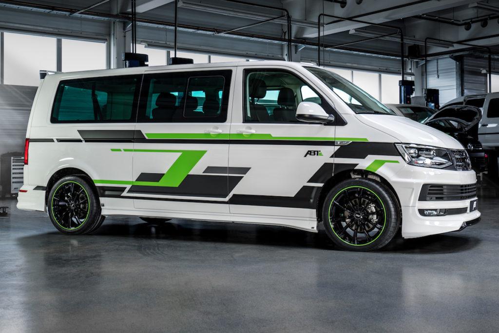 VW T6 e-Transporter Elektroauto Tuning Abt e-Line Aerodynamik-Kit Felgen Abt Sport GR Genfer Auto-Salon 2019