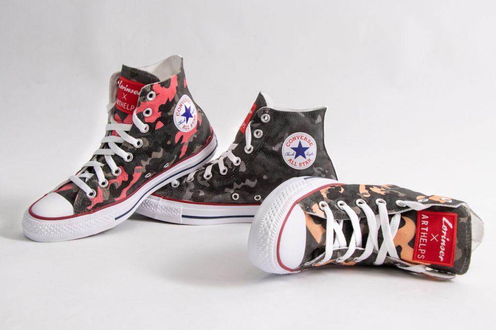 Converse Chucks Schuhe Lorinser x ARTHELPS Charity Modekollektion Camouflage Neuheit