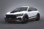Audi Q8 SUV Veredlung Tuning Lumma Design CLR 82 Bodykit Bausatz Kotflügelverbreiterung Felgen Räder Lumma CLR 22 LX