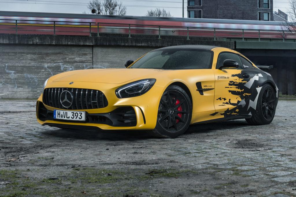 Mercedes-AMG GT R Sportwagen Coupé Folierung fostla.de Leistungssteigerung