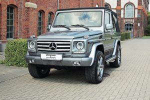 Mercedes-Benz G 500 Cabrio W463 SCHAWE Car Design Tuning Veredlung Innenraum Leder Felgen Abgasanlage