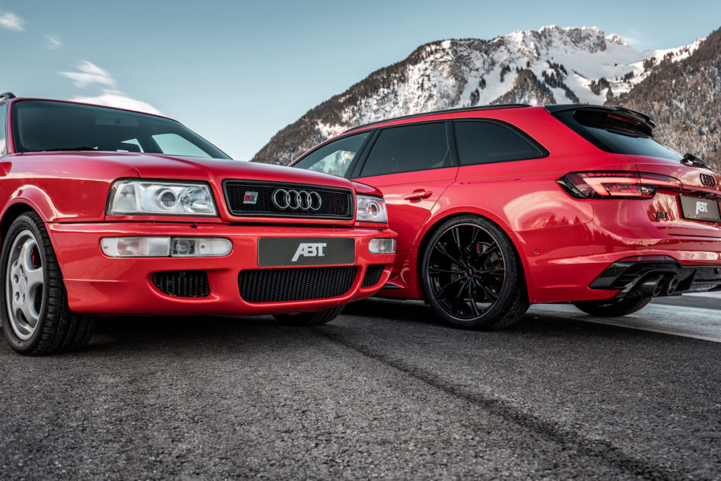 Audi RS 4 Avant RS2 Tuning Veredlung Leistungssteigerung Bodykit Abt RS4+ Generationentreffen
