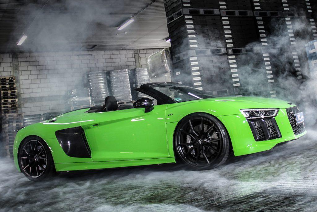 Audi R8 V10 Spyder 4S Tuning Veredlung JMS Fahrzeugteile Schmidt Drago Felgen