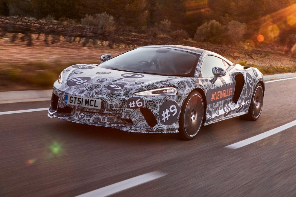 Teaser Neuheit Prototyp Erlkönig McLaren Grand Tourer