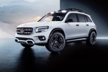 Messe China Auto Shanghai 2019 Premiere Studie Ausblick Vorschau Mercedes-Benz Concept GLB SUV Allradler