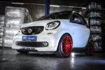 Smart Fortwo 453 Tuning Veredlung Felgen OZ Superturismo GT Tieferlegung Gewindefahrwerk JMS Fahrzeugteile