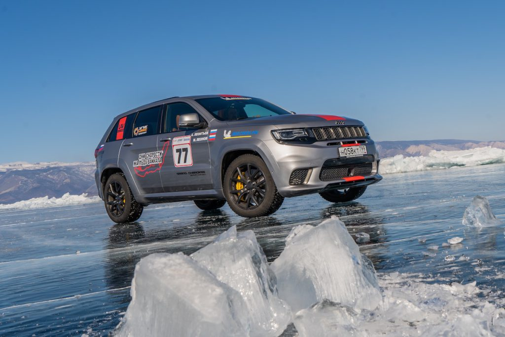 Geschwindigkeits-Rekord Baikal Ice Sports Festival Speed Days 2019 Jeep Grand Cherokee Trackhawk
