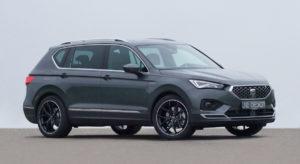 Seat Tarraco SUV Tuning Veredlung JE Design Felgen Tieferlegung Ladekantenschutz Leistungssteigerung