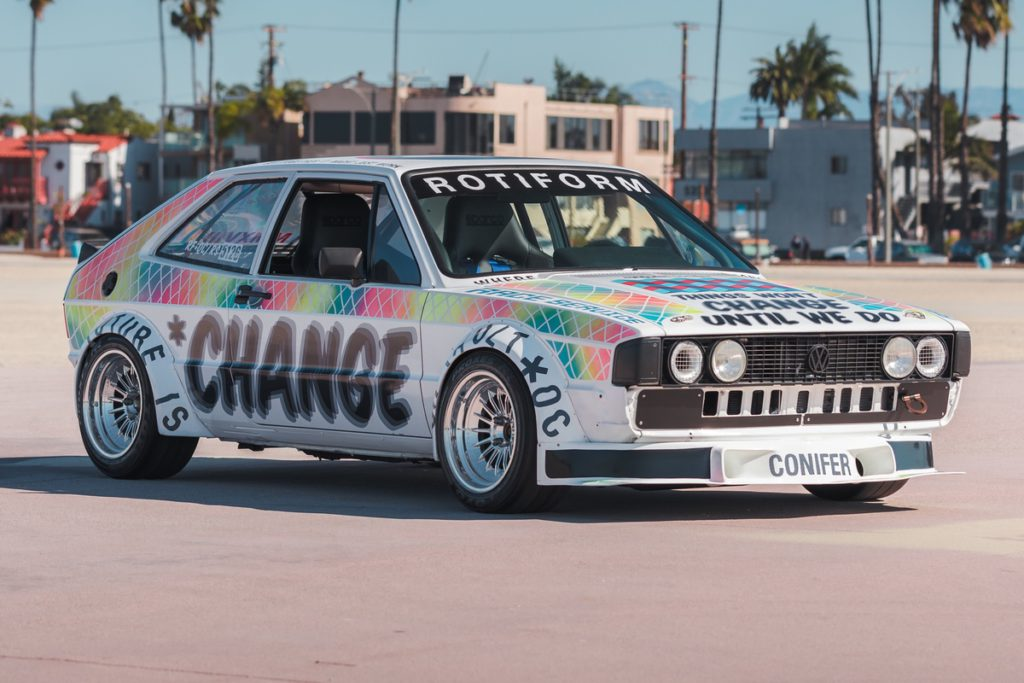 VW Scirocco S Sportcoupe Kompaktklasse Tuning Veredlung Lackierung Felgen Rotiform BUC-M Drag Racer Art Car USA