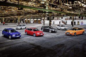Audi RS 25 Jahre Jubiläum RS 2 RS 4 RS 6 Avant Allradantrieb Topmodell