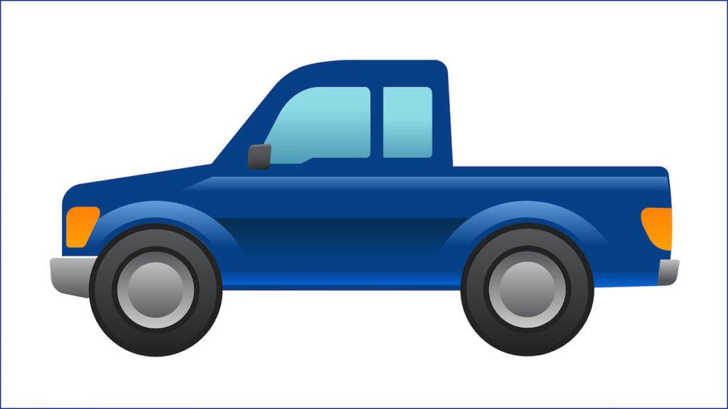 Emoji online Soziale Netzwerke Chat Messenger Smartphone Ford Neuheit Pick-up Truck