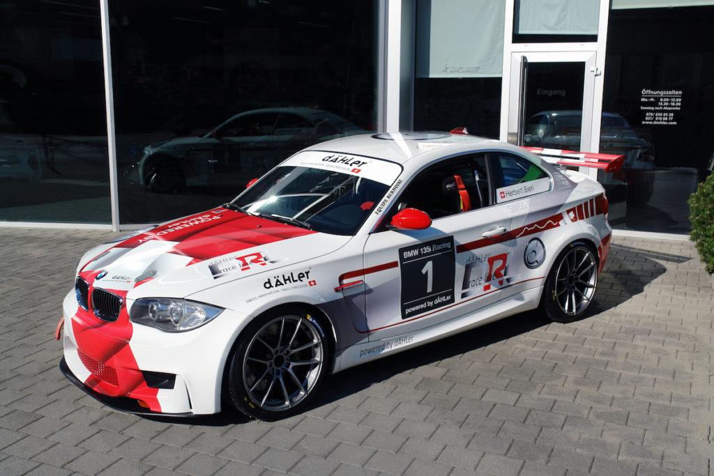 Clubsport Rennwagen BMW E82 135i Tuning Rennwagen dÄHLer race line Schweiz