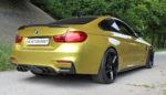 BMW M4 Sportcoupé Tuning HS Motorsport Felgen Elegance Wheels FF550 Tieferlegung Carbon Anbauteile