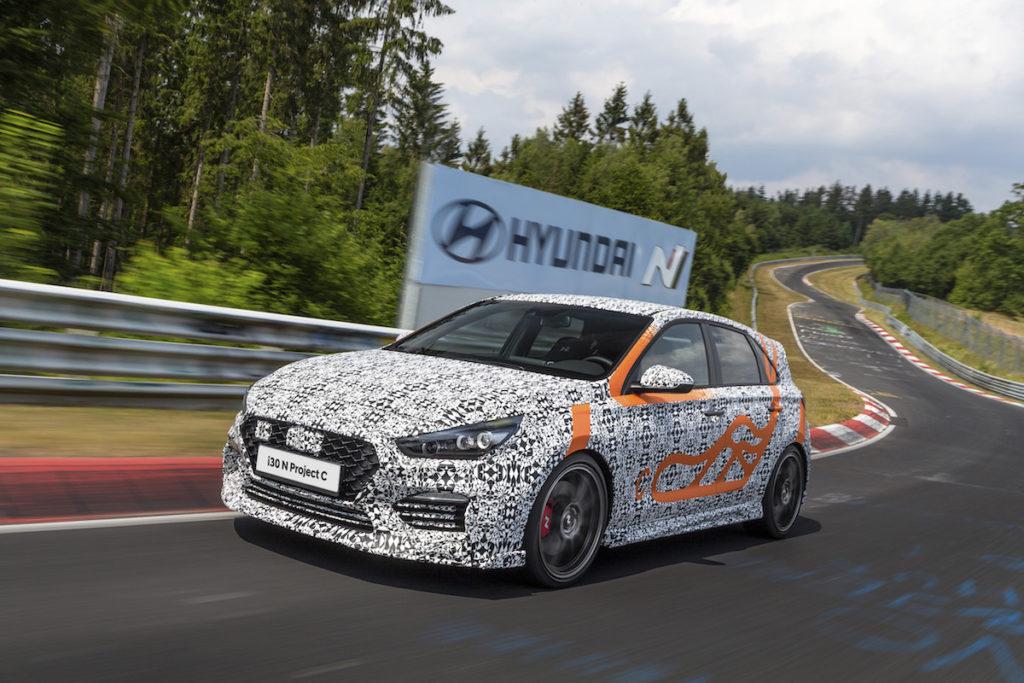 Neuheit limitiertes Sondermodell Premiere IAA 2019 Hyundai i30 N Project C lichtblau Tieferlegung Schmiedefelgen Nürburgring Nordschleife