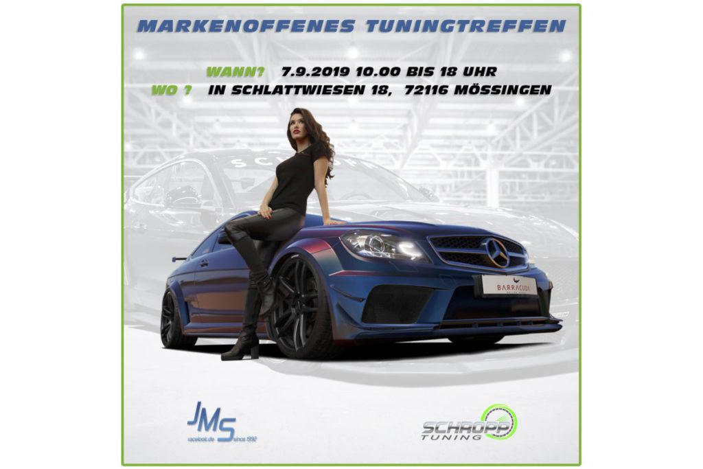 Event Vorschau Markenoffenes Tuningtreffen Baden-Württemberg Mössingen Schropp Fahrzeugtechnik JMS Fahrzeugteile September 2019