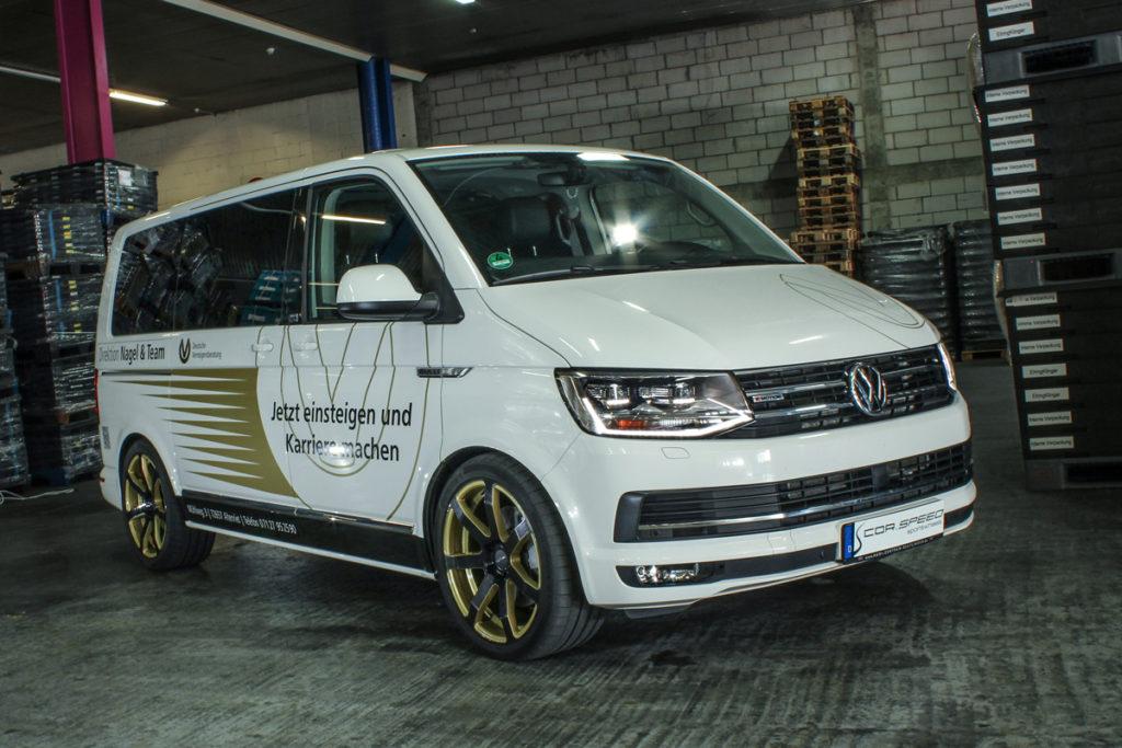 VW T6 Multivan Tuning Veredlung JMS Fahrzeugteile Cor.Speed Challenge Felgen Tieferlegung Leistungssteigerung