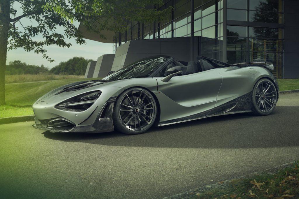 McLaren 720S Spider Sportwagen Tuning Novitec Leistungssteigerung Felgen Aerodynamik-Bodkit