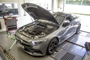 DTE-Systems PowerControl RX+ Neuheit Sprachsteuerung Tuning Zusatz-Steuergerät Mercedes-AMG CLS 53 Pedal Box+