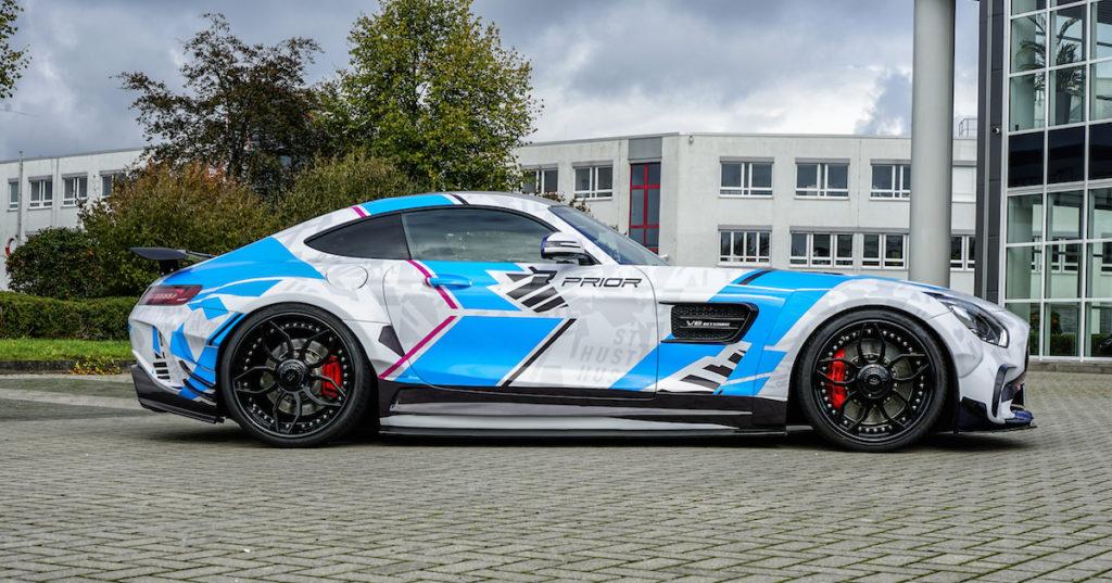Prior-Design hauseigene Folierung Mercedes-AMG GT Coupé PD700GTR Widebody Aerokit Tuning Need for Speed Heat Gamescom