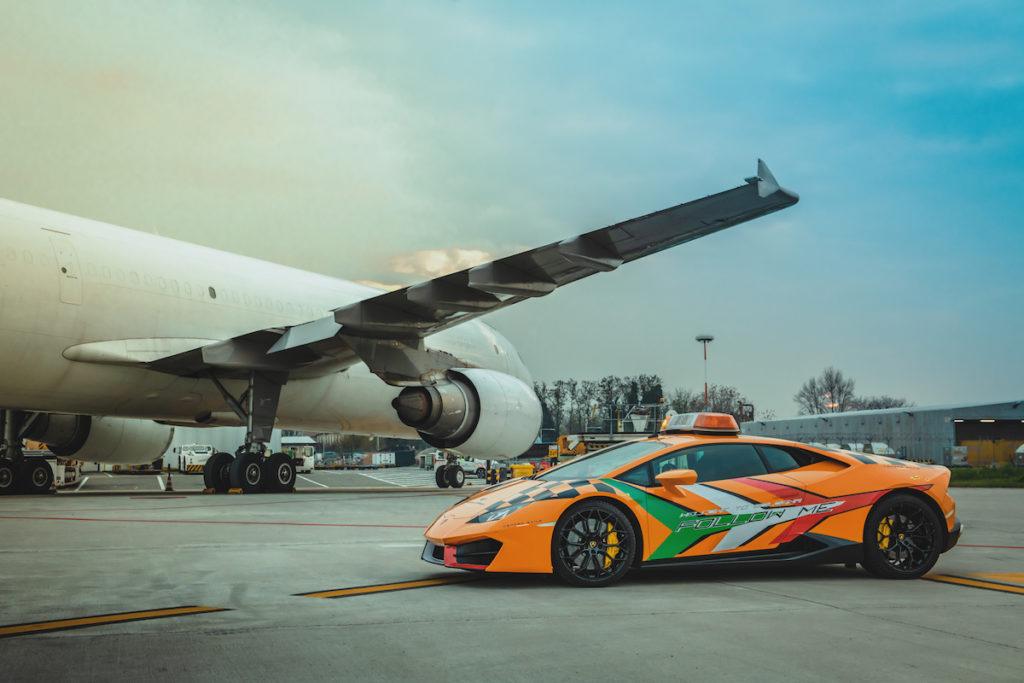 Follow-Me Car Flughafen Bologna Lamborghini Huracán LP580-2 RWD Coupé