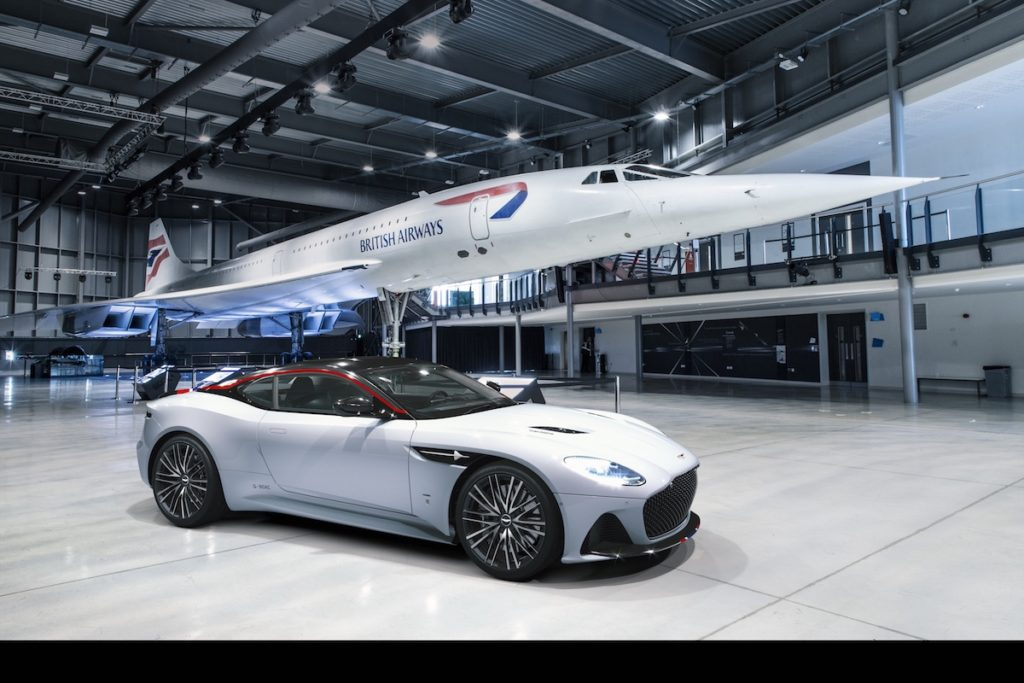 Sondermodell Großbritannien Aston Martin DBS Superleggera Concorde Edition limitiert Überschall-Flugzeug British Airways