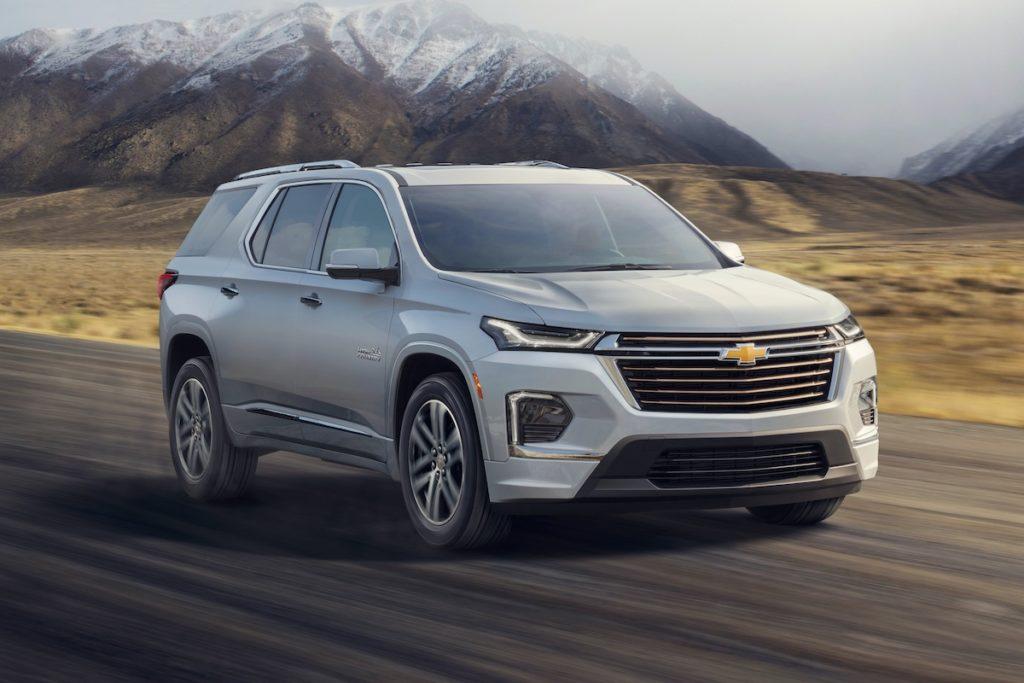 Vorstellung Premiere Facelift Überarbeitung Chevrolet Traverse Siebensitzer SUV US-Car