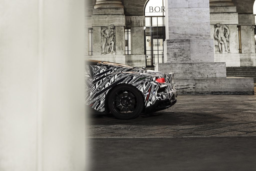 Vorschau Teaser Preview Prototyp Maserati MC20 Mittelmotor Coupé