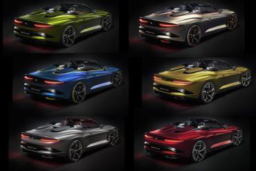 Designentwürfe Styling Bentley Mulliner Bacalar limitiertes Sondermodell Spyder