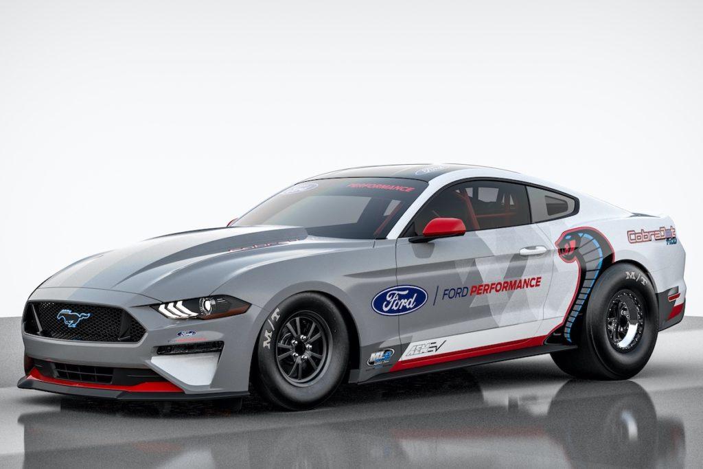 Ford Mustang Cobra Jet 1400 Elektroauto EV Dragster Sportwagen Motorsport Racing Viertelmeile