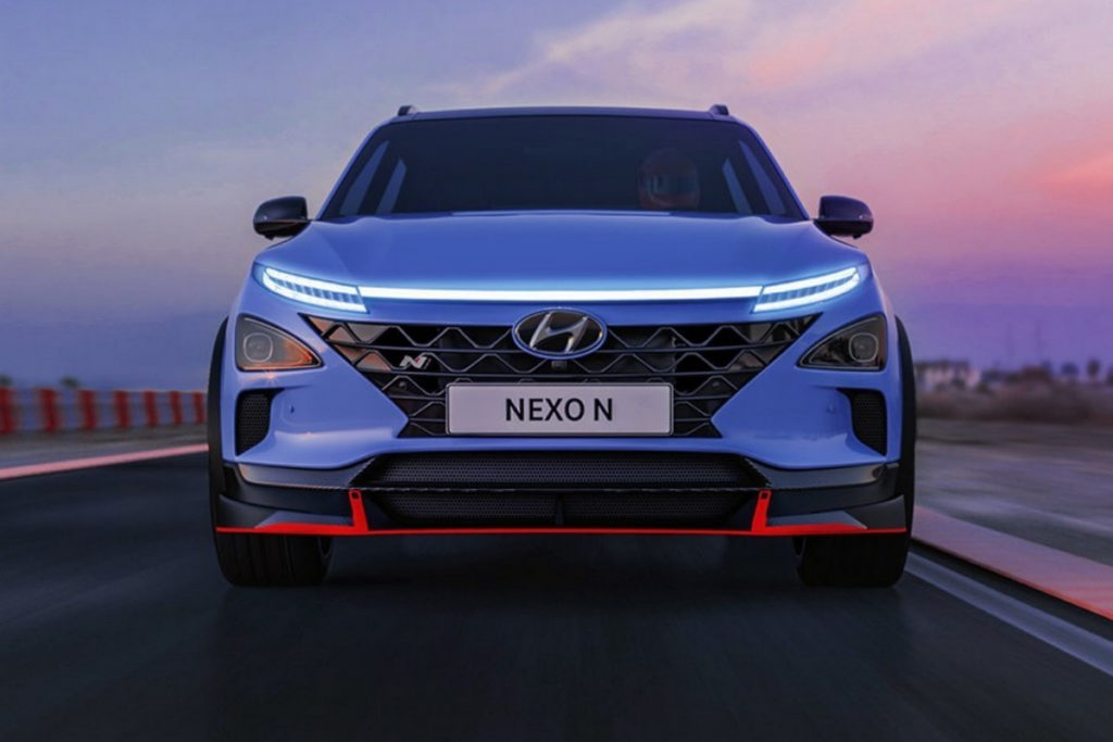 Hyundai Nexo N Topmodell Rendering Vision Aprilscherz SUV Brennstoffzellenauto