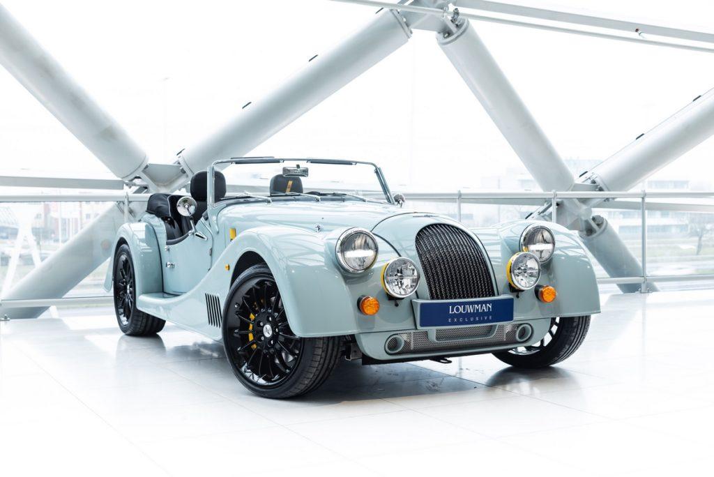 Jubiläum Sondermodell Louwman Exclusive Morgan PlusSix LE60 Ice Blue