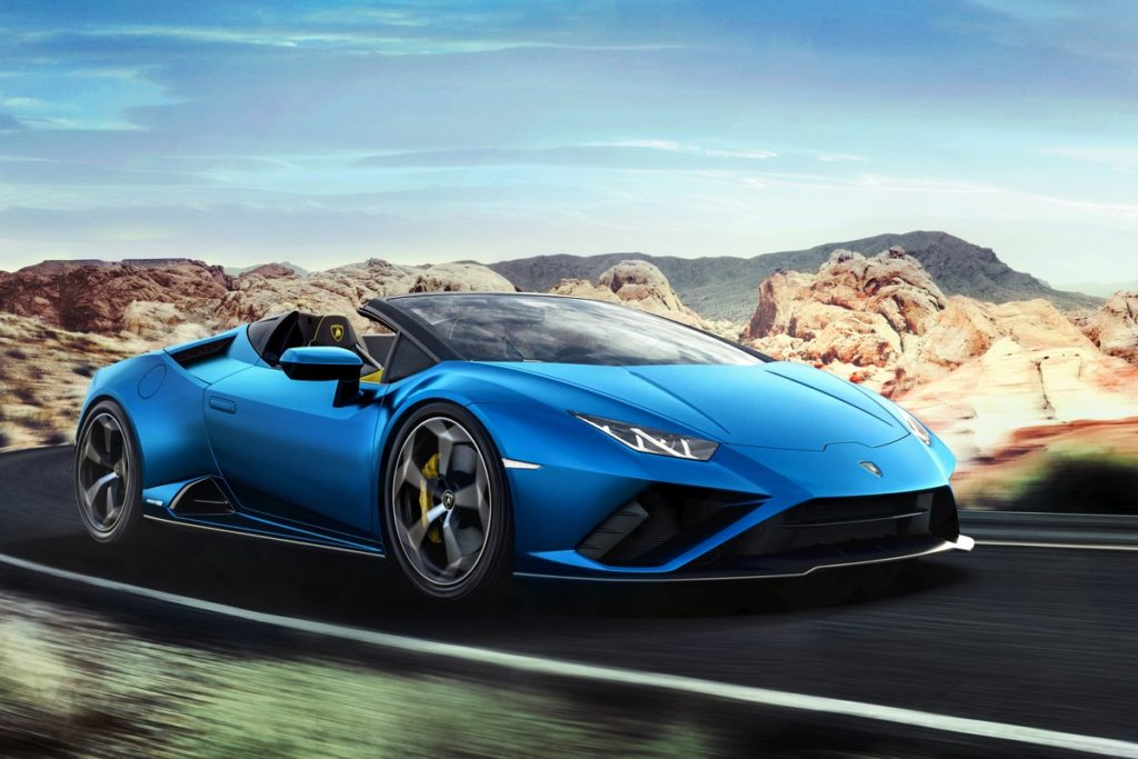 Mittelmotor Sportwagen Neuheit Heckantrieb Lamborghini Huracán EVO RWD Spyder