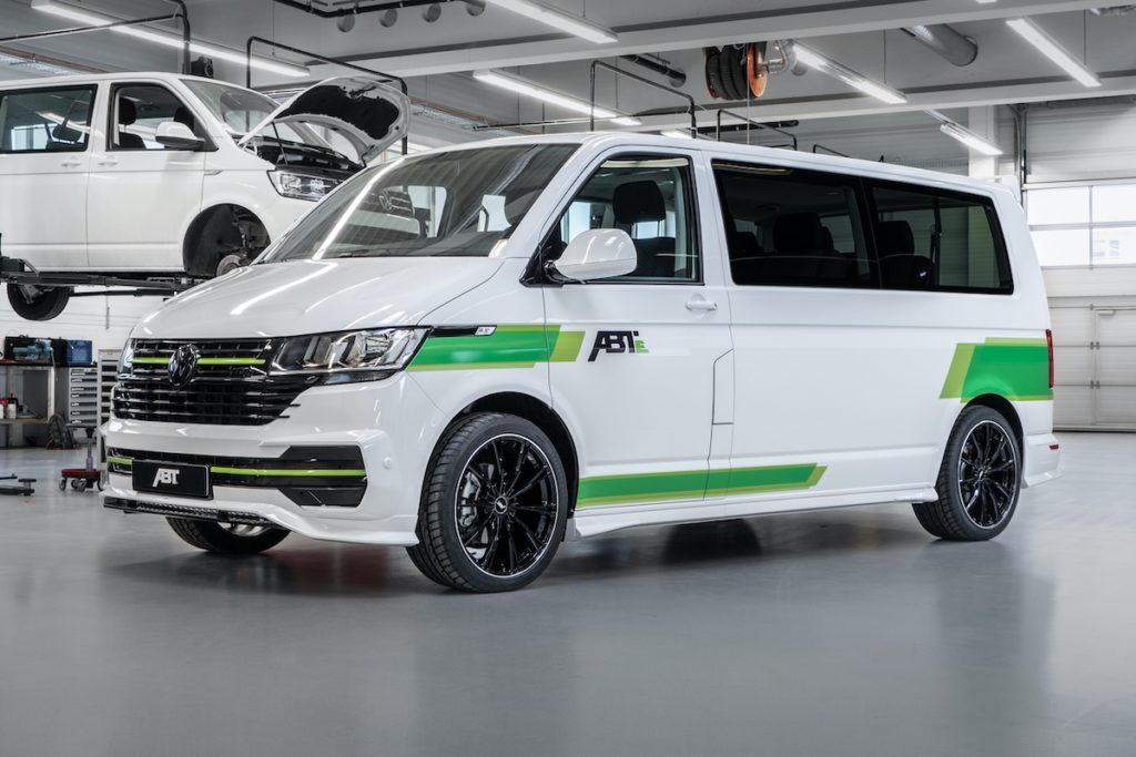 Elektroauto Abt e-Line e-Transporter 6.1 VW Nutzfahrzeuge T6 Bulli Bus Tuning Aeropaket Felgen
