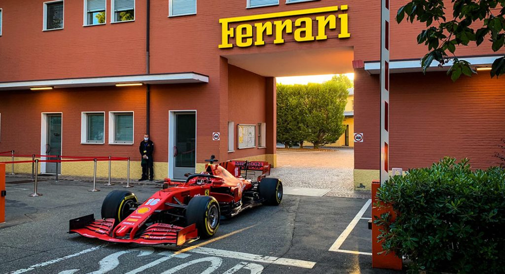 Leclerc Mit Dem Ferrari Sf1000 Zur Arbeit Eurotuner News